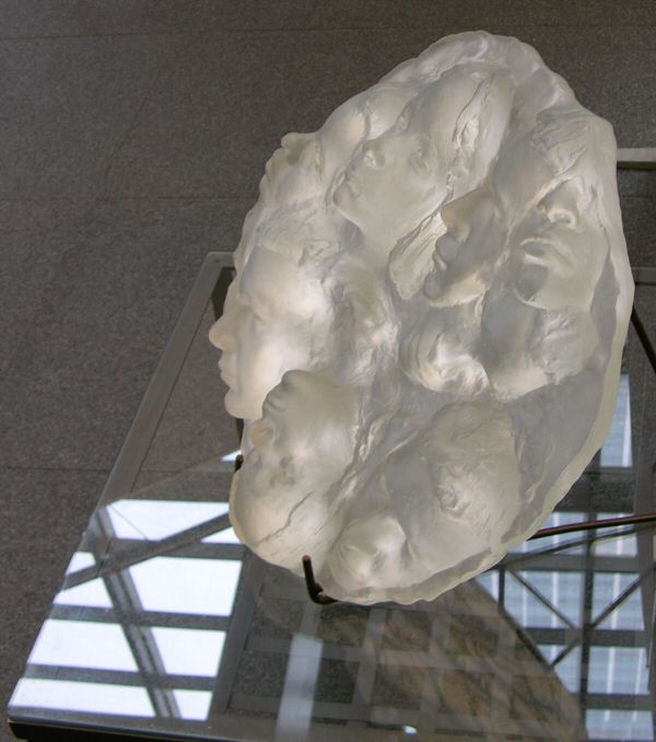 The same as above, in glass (now in permanent collection at HSBC bank headquarters, Canary Wharf, London)