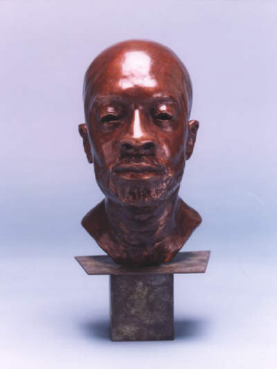 Bronze bust of Isaac Hayes