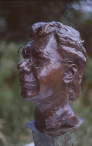Bronze bust of Jazz great Chick Corea: click for large view of bust