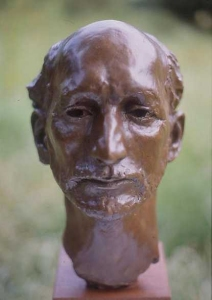 Bronze bust of sometimes actor Guy McQuade: click for larger view of bust