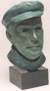 Bronze bust of Harry Dennis - click here for larger view