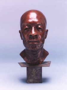 Bronze bust of actor & singer Isaac Hayes - click here for larger view