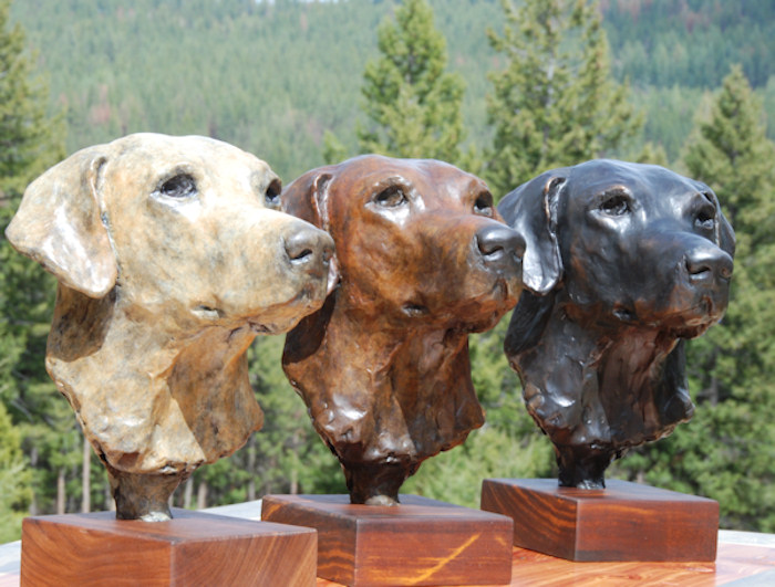 The labrador is a gun dog - or a family pet... either way a bronze bust of your labrador will be something to treasure forever