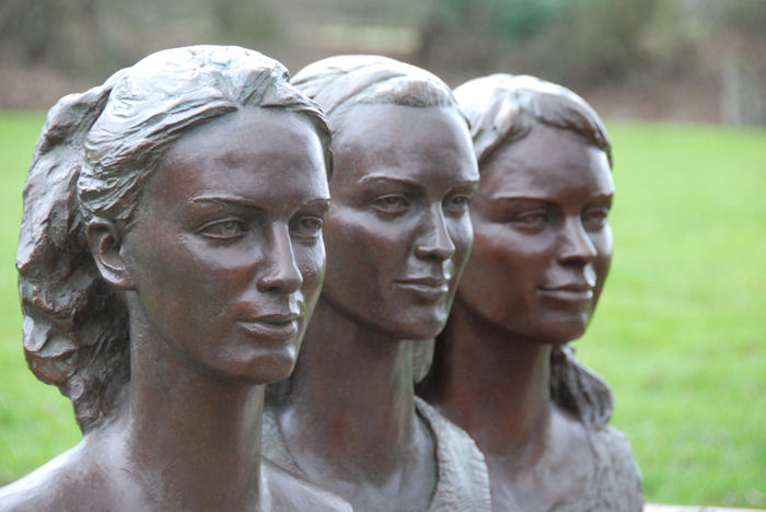Bronze busts / sculpture portraits of Lady Violet Manners, Lady Alice Manners and Lady Eliza Manners