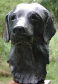 Bronze bust of a Labrador Retriever - Click here for a larger view
